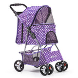 4 Wheel Pet Stroller - Purple