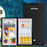 95L Portable Fridge Bar Freezer Cooler Upright 12V/24V/240V Caravan 4WD Car Camping Black