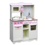 Children Wooden Kitchen Play Set Off White
