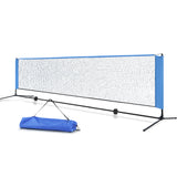 Portable Sports Net Stand Badminton Volleyball Tennis Soccer 4m 4ft Blue