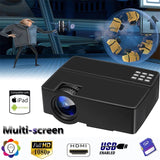 3000LM LED/LCD 1080P Home Theatre Projector Cinema HDMI VGA USB SD for Smartphone & Laptop