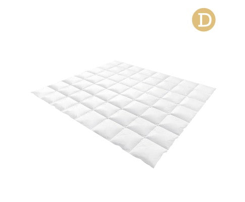 Lightweight Duck Down Feather Quilt Double White