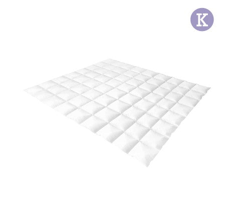 Lightweight Duck Down Feather Quilt King White