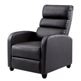 Luxury Recliner Chair Chairs Lounge Armchair Sofa Leather Cover Brown