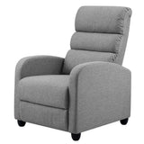 Luxury Recliner Chair Chairs Lounge Armchair Sofa Fabric Cover Grey