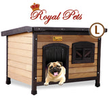 Royal Pet Dog Timber House Kennel Wooden Home Outdoor Box Cabin Puppy Window