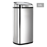 Stainless Steel Motion Sensor Rubbish Bin – 68L