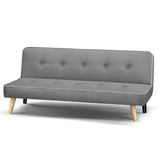 3 Seater Fabric Sofa Bed - Light Grey