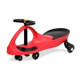 Kids Children Swing Car Ride On Toys Scooter Wiggle Slider Swivel Cars Red