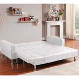 Corner Sofa Bed Couch with Chaise - White