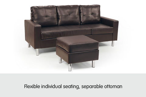 Cool Corner Sofa Couch With Chaise Brown Uwap Interior Chair Design Uwaporg