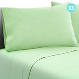 3 Piece Microfibre Sheet Set King Single – Green