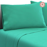 4 Piece Microfibre Sheet Set Queen– Aqua