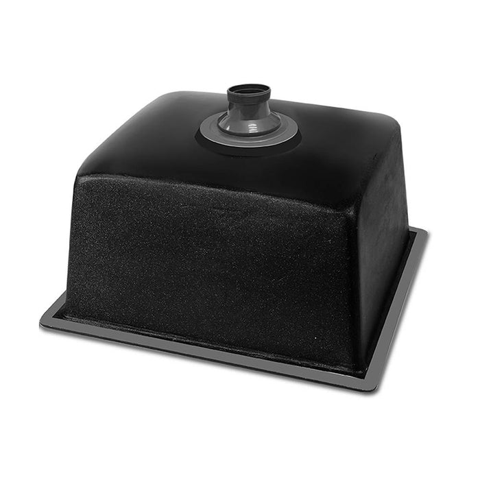Stone Kitchen Sink 460X410MM Granite Under/Topmount Basin Bowl Laundry Black