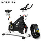 NORFLEX Spin Bike Flywheel Commercial Gym Exercise Home Workout Bike Fitness WHT