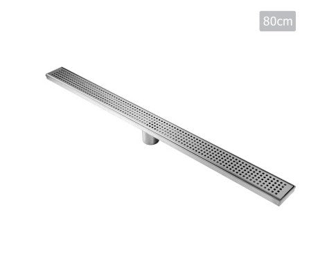 800mm Stainless Steel Shower Grate Tile Insert Drain Square Bathroom Home