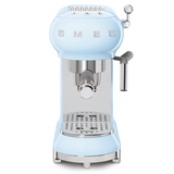 Smeg Pastel Blue 50s Retro Style Espresso Coffee Machine ECF01PBAU