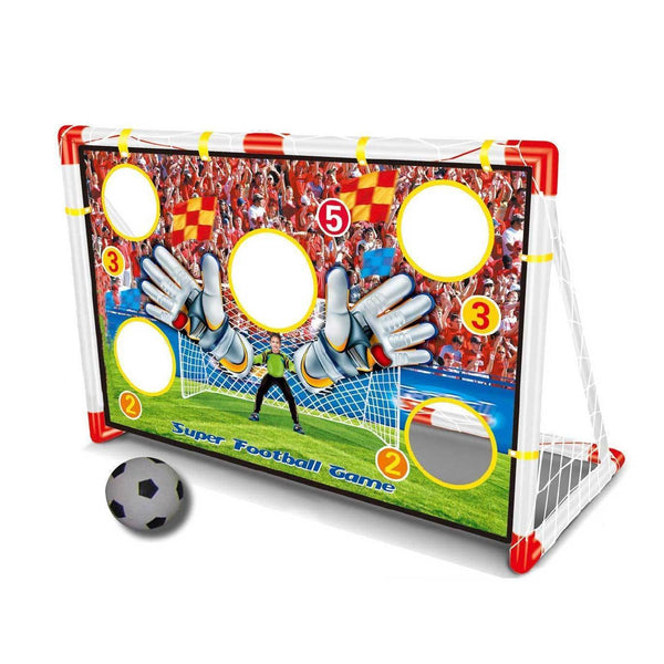 Soccer Goal Set with Practice Game and Ball