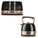 Sunbeam New York Pot Kettle and 4 Slice Toaster Pack KE4410KBTA4440KB