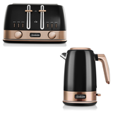 Sunbeam New York Jug Kettle and 4 Slice Toaster Pack KE4430KBTA4440KB