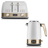 Sunbeam New York Jug Kettle and 4 Slice Toaster Pack KE4430WGTA4440WG