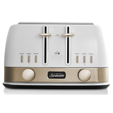 Sunbeam New York 4 Slice Toaster White Gold TA4440WG
