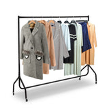 4 FT Metal Garment Display Rolling Clothes Rack