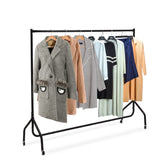 6 FT Clothes Rack Metal Garment Display Rolling Rail