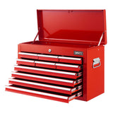 10-Drawer Tool Box Chest Cabinet Garage Storage Toolbox Red
