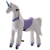 Unicorn Ride On Animal Toy for Kids, Purple PRESALE - Large
