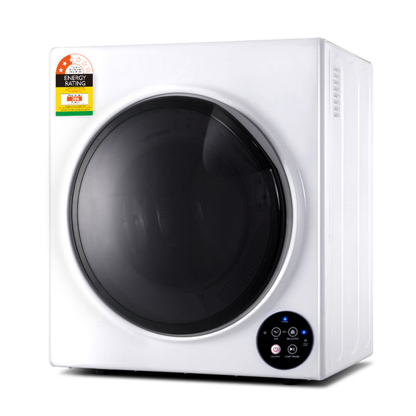 6kg Tumble Dryer Vented Full Automatic Wall Mountable White