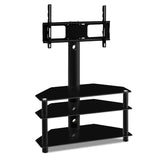 3 Tier Floor TV Stand with Bracket Shelf Mount