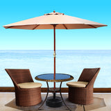 Outdoor-Umbrella-Pole-Umbrellas-3M-with-Base-Garden-Stand-Deck-Beige-UMB-POLE-3-H-BG-BASE-afterpay-klarna-openpay