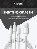 KIVEE CH061 USB to 3 IN 1 Charging Cable 1.2M Silver