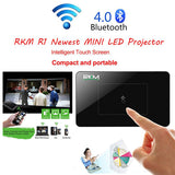 RKM R1 Newest MINI LED Projector DLP 32G HDMI IN Keystone Correction 5000mA battery touch pad for smart Home Theater Cinema
