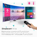 Simplecom RT100 Rechargeable 2.4G Wireless Remote Air Mouse with Keyboard for PC Android TV Box Media Player