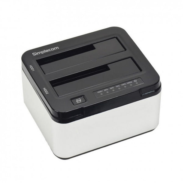 "Simplecom SD322 Dual Bay USB 3.0 Aluminium Docking Station for 2.5"" and 3.5"" SATA HDD Silver"