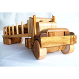 Wooden Log Truck Toy