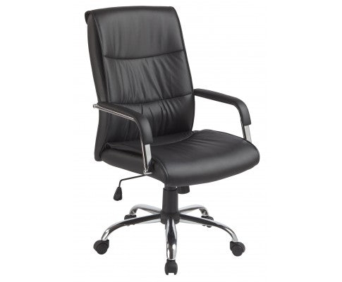 PU Leather Office Chair Executive Padded - Black