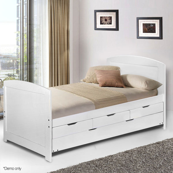 Wooden Trundle Bed Frame - Single
