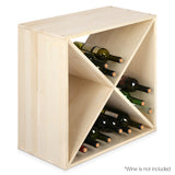 24 Bottles Timber Wine Rack