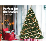 Christmas Tree 2.4M 6FT Xmas Decoration Green Home Decor 2100 Tips
