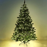 8FT Christmas Tree with LED - Green