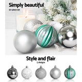 8FT 2.4M Christmas Tree Baubles Balls Xmas Decorations Green Home Decor 1400 Tips Green Snowy