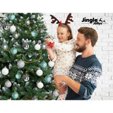 8FT-2.4M-Christmas-Tree-Baubles-Balls-Xmas-Decorations-Green-Home-Decor-1400-Tips-Green-Snowy-XM-TR-WELL-8F-SNOW-BALL-SI-afterpay-zippay-laybuy-openpay
