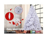 8FT Christmas Tree - White