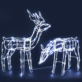 Christmas LED Motif Lights Rope Reindeer Waterproof Solar Powered