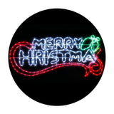 Christmas Motif Lights LED Rope Merry Xmas Waterproof Colourful