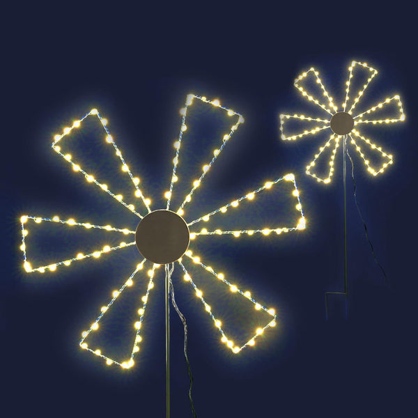 Christmas Motif Lights LED Spinner Windmill Waterproof Outdoor