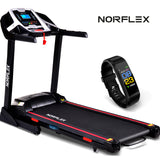 NORFLEX 450mm Belt Auto Incline Treadmill Gym Exercise Machine Fitness Tracker